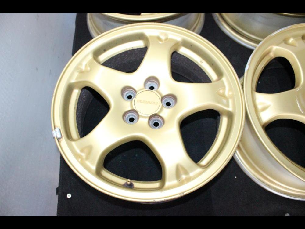Jdm Subaru 16 Inch Gold 5x100 Offset 53 Wheels Rims For Sale Engine Land