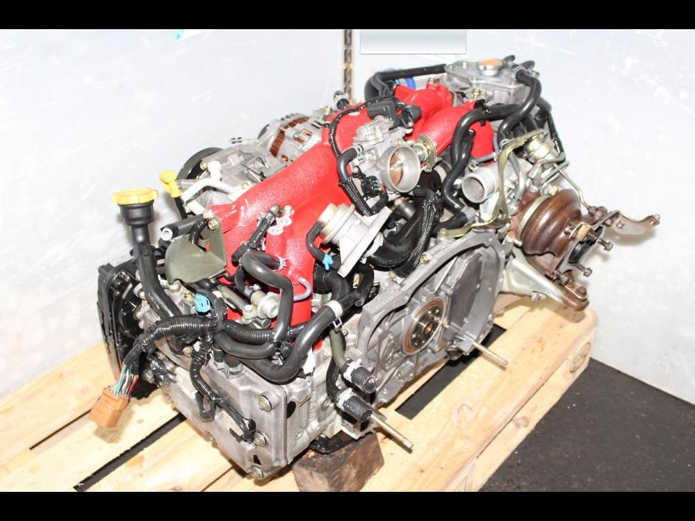 ENGINES #3342 - 02-07 subaru sti jdm ej207 version8 dohc turbo 2 0l moteur  swap pour vendre
