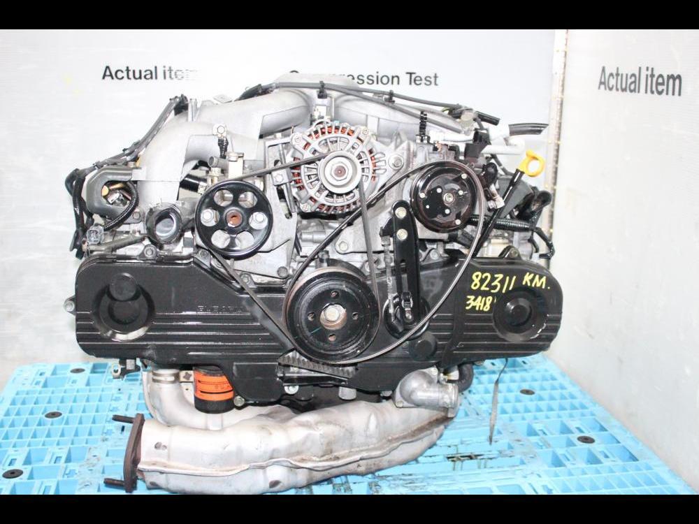 ENGINES #3418 - USED JDM OUTBACK, IMPREZA, LEGACY EJ25 SOHC 2 5L 2002-2005  ENGINE COMPLETE