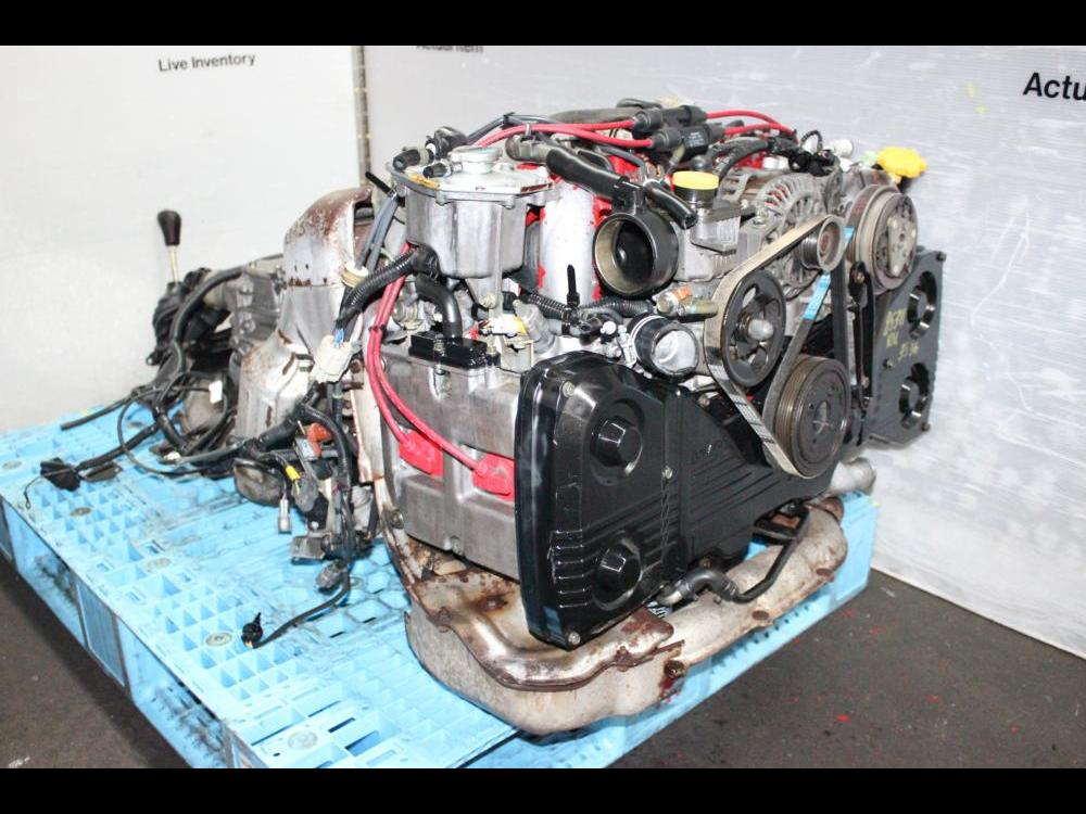ENGINES #3536 - JDM 97-98 SUBARU WRX STI EJ20 2 0L DOHC TURBO ENGINE GC8  GF8 VERSION 4 5 5PEED AWD TRANS