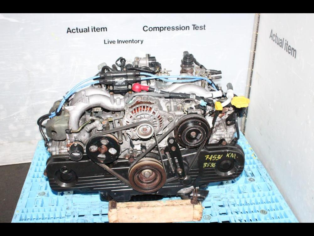 ENGINES #3537 - JDM SUBARU EJ20 2 0L SOHC ENGINE REPLACEMENT FOR EJ25 2 5L  SOHC MOTOR