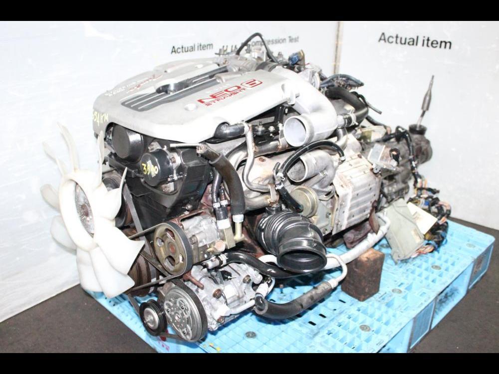 ENGINES #3540 - JDM NISSAN SKYLINE RB25 NEO R34 TURBO ENGINE 5SD RWD on