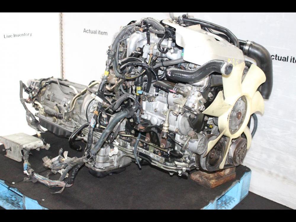 ENGINES #3625 - JDM NISSAN ZD30 DIESEL TURBO ENGINE AUTOMATIC TRANSMISSION,  ECU, WIRING
