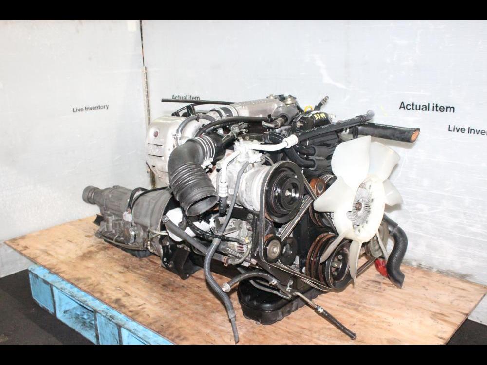 ENGINES #3744 - JDM 2L TOYOTA HILUX 4RUNER 2 4L EFI DIESEL TURBO ENGINE  AUTOMATIC RWD TRANS ECU 2L-TE