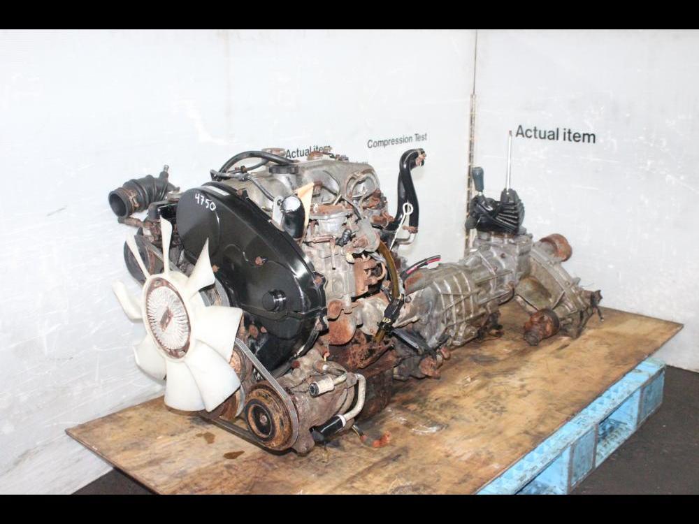 ENGINES #3750 - JDM MITSUBISHI MONTERO PAJERO 4D56 TURBO 2 5L DIESEL MOTOR  AWD MANUAL TRANSMISSION
