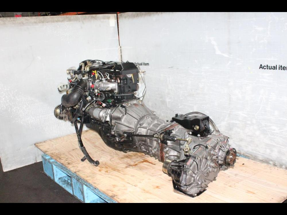 ENGINES #3776 - JDM TOYOTA DYNA 2L DIESEL ENGINE MANUAL AWD TRANSMISSION
