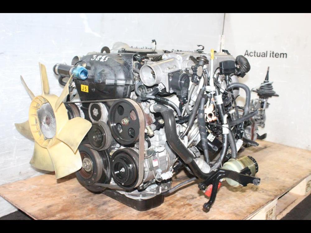 ENGINES #3825 - TOYOTA 1JZGTE VVTI TURBO DOHC MOTOR MANUAL R154  TRANSMISSION, ECU, WIRING