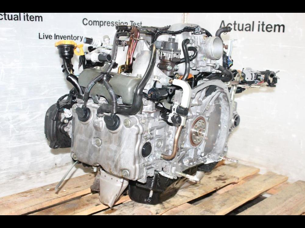 ENGINES #3907 - IMPREZA RS 2004 SUBARU USED EJ20 SOHC REPLACEMENT NA EJ25  LONG BLOCK MOTOR FOR SALE