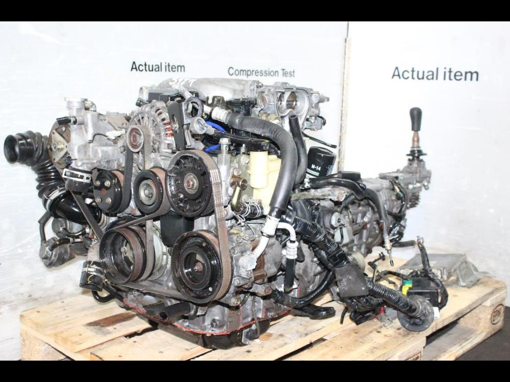 ENGINES #3974 - MAZDA RX7 JDM 13B TWIN TURBO 1 3L ROTARY ENGINE MANUAL  5SPEED TRANSMISSION
