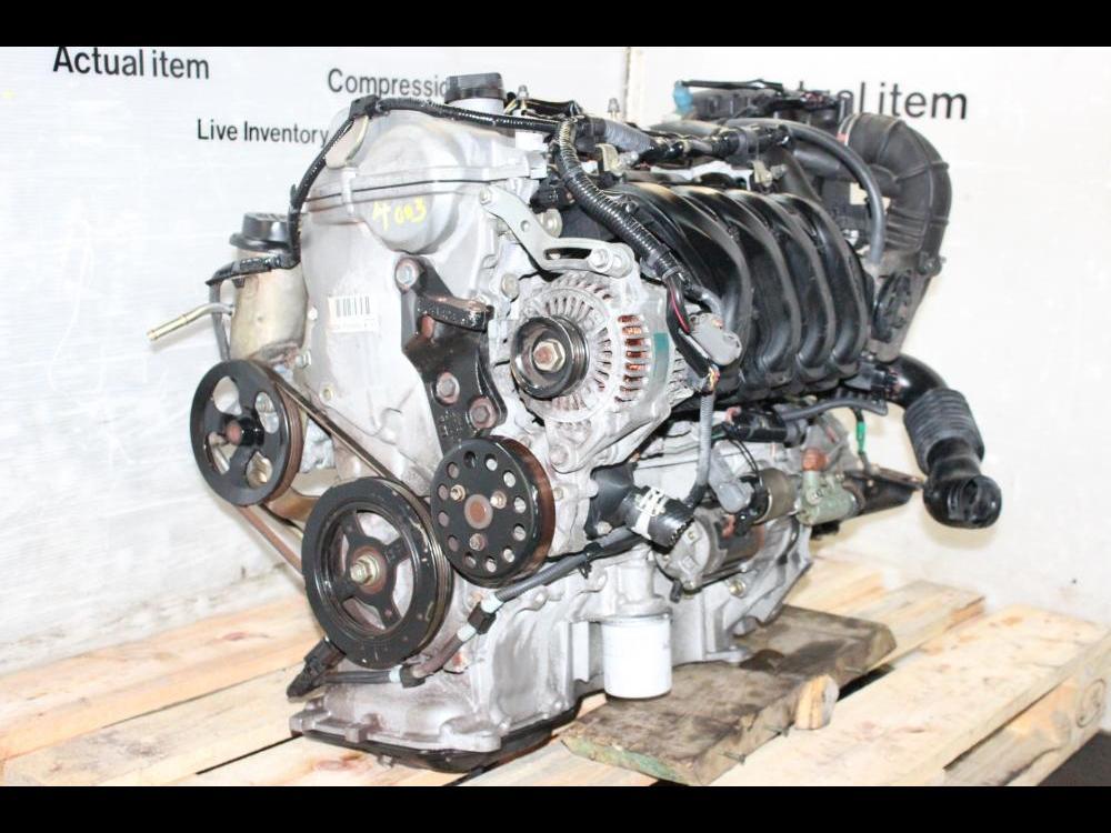 ENGINES #4003 - JDM 1.5L 1NZ VVTI 4 CYLINDER ENGINE MANUAL 5SD TRANSMISSION on