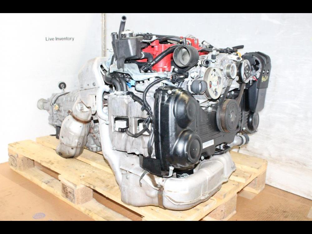 ENGINES #4020 - 2008-2010 JDM SUBARU EJ207 STI ENGINE AND 6SPEED  TRANSMISSION VERSION 10 EJ20